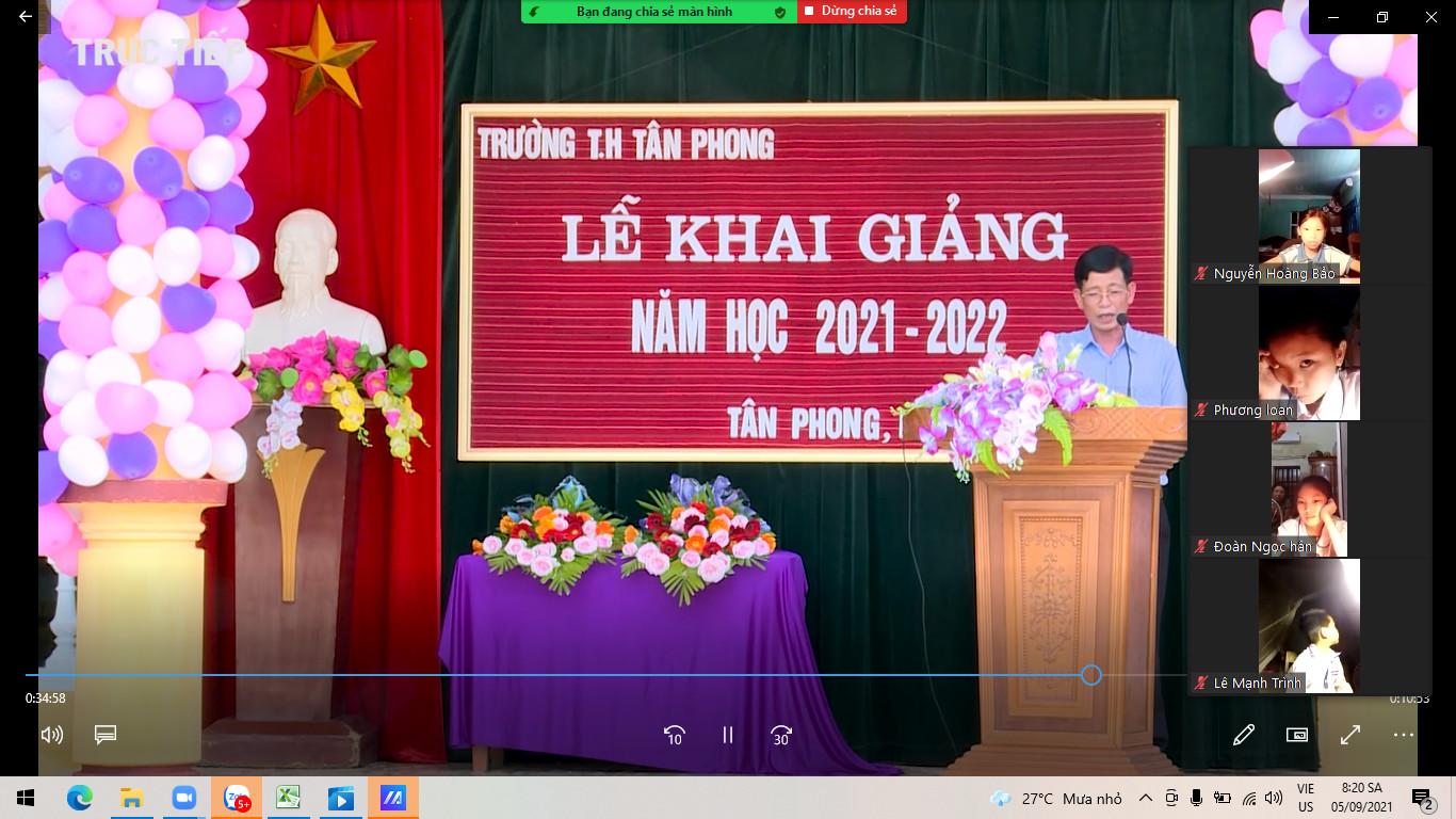 Bài phát biểu của đ/c Vũ Quang Giảng- Bí thư BCH Đảng bộ.